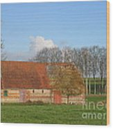 Normandy Storm Damaged Barn Wood Print