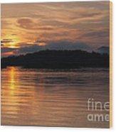 Norris Lake Sunrise Wood Print