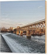 Norristown Dam And Railroad Bridge Wood Print
