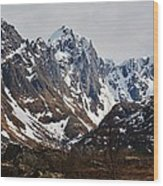 Norse Spring Mountains Wood Print