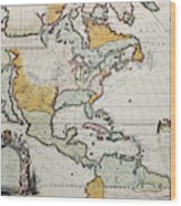 North America Old Map Wood Print By Marzolino