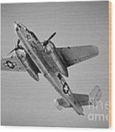 North American B-25 Mitchell Bw Wood Print