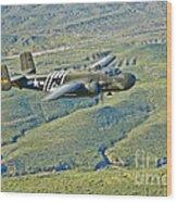North American B-25g Mitchell Bomber Wood Print