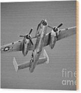 North American B-25j Bw Wood Print