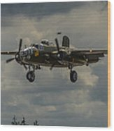 North American B-25j Mitchell Wood Print by Puget  Exposure