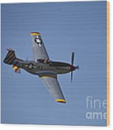 North American P-51d Mustang Wood Print