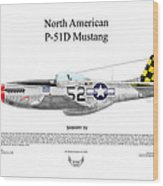 North American P-51d Shimmy Iv Wood Print