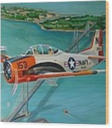 North American T-28 Trainer Wood Print by Stuart Swartz