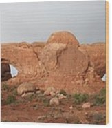 North And South Window Arches Np Wood Print