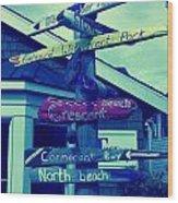 North Beach Wood Print
