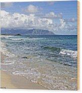 North Beach Kaneohe 7 Watermarked Wood Print