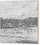 North Beach Tenby Wood Print