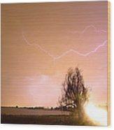 North Boulder County Colorado Lightning Strike Wood Print
