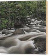 North Branch Greenery Wood Print