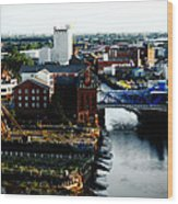 North Bridge Kingston Upon Hull Wood Print by Anthony Bean