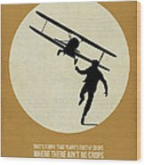North By Northwest Poster Wood Print by Naxart Studio