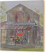 North Carolina Barn Wood Print