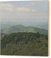 North Carolina Blue Ridge Mountains Wood Print