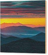 North Carolina Blue Ridge Parkway Morning Majesty Wood Print