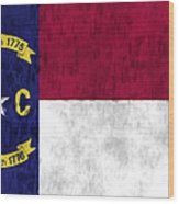 North Carolina Flag Wood Print by World Art Prints And Designs