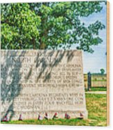 North Carolina Memorial Gettysburg Battleground Wood Print