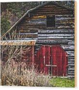 North Carolina Red Door Barn Wood Print