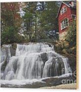 North Carolina Waterfall Wood Print