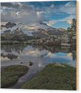 North Cascades Tarn Reflection Wood Print