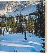 North Cascades Winter Wood Print
