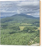 North Conway Vista Wood Print