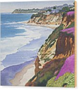 North County Coastline Wood Print by Mary Helmreich