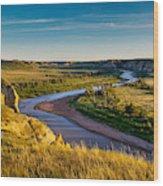 North Dakota Badlands Wood Print