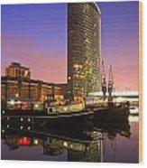 North Dock In Canary Wharf. Wood Print
