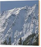 1m4443-north Face Of Big Four Mountain Wood Print