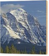 1m3549-north Face Of Mt. Temple Wood Print