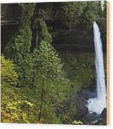 North Falls Panorama Wood Print