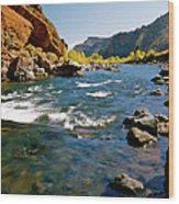 North Fork Of The Shoshone River Wood Print