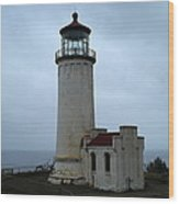 North Head Lighthouse At Cape Disappointment Wood Print