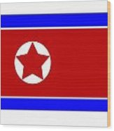 North Korea Flag Wood Print