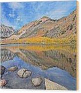 North Lake Reflections Wood Print