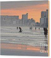 North Myrtle Beach At Sunset Wood Print