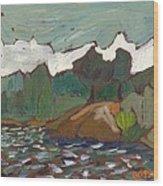 North Of Kingston Wood Print