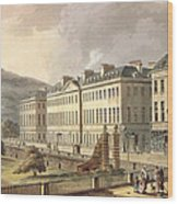 North Parade, From Bath Illustrated Wood Print