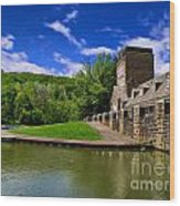 North Park Boathouse In Hdr Wood Print