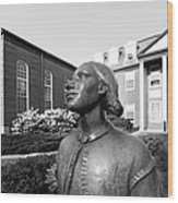 North Park College Nyvall Hall Sculpture Wood Print by University Icons