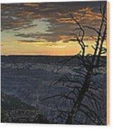 North Rim Dawn Wood Print