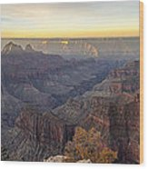 North Rim Sunrise Panorama 2 - Grand Canyon National Park - Arizona Wood Print