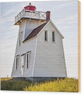 North Rustico Lighthouse Wood Print