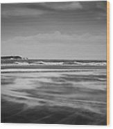 North Sea Gale Wood Print