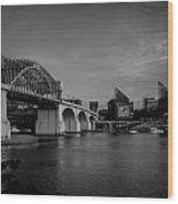 North Shore Bridge Wood Print